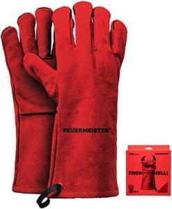 Feuermeister leren BBQ handschoenen